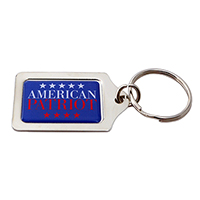 American Patriot Silver Keychain