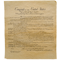 Bill of Rights Parchment Reproduction