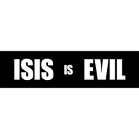 ISIS is Evil Bumper Sticker - Pack of 10 stickers