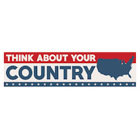 Think About Your Country Bumper Sticker - free
