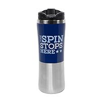The Spin Stops Here Travel Mug