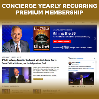 Concierge YEARLY Recurring Premium Membership - with free Autographed book