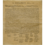 Declaration of Independence Historical Parchment